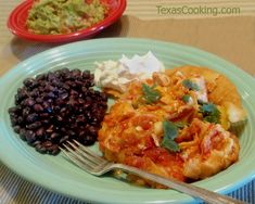 Chilaquiles served on Fiesta® Dinnerware | Texas Cooking