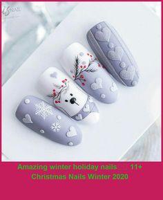 Xmas Nails, Holiday Nails, Christmas Nails, Simple Christmas, Christmas Crafts, Trendy Nails, Cute Nails, Chrismas Nail Art, Gem Nails