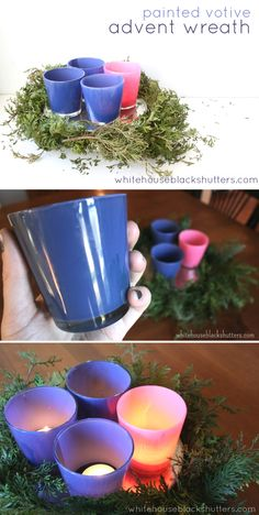 can't find purple and pink Advent candles? Make your own with this simple DIY! can't find purple and pink Advent candles? Make your own with this simple DIY! Winter Christmas, Christmas Holidays, Christmas Berries, Country Christmas, Christmas Ornaments, Advent Activities, Easy Diy, Simple Diy, Advent Candles