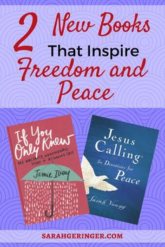 Two fresh Christian books to inspire freedom and peace in your walk with God. #bookreview #christianbooksforwomen #spiritualgrowth #peaceingodsword