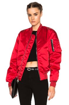 Image 1 of Unravel FWRD Exclusive Bomber in Lipstick