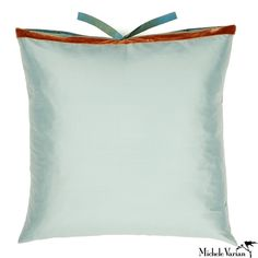 Silk Dupioni Pillow Robins Egg 22x22