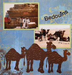 Egypt Travel scrapbook page with a Camel Border from Cricut's Animal Kingdom