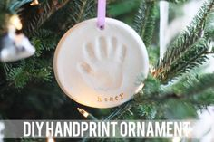diy handprint ornament....must do this with Layla for Christmas!!