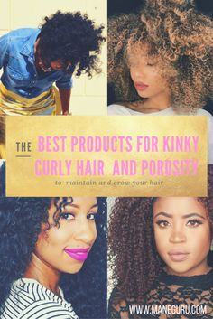 This is a guide to understand a and use the best products for kinky curly texture and porosity. This will make your daily maintenance super easy! Dry Curly Hair, Haircuts For Curly Hair, Curly Hair Styles, Cool Hairstyles, Long Hair, 4a Natural Hair, Natural Hair Journey, Natural Hair Styles, Good Shampoo And Conditioner