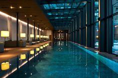 Swizz luxury hotel swimming pool
