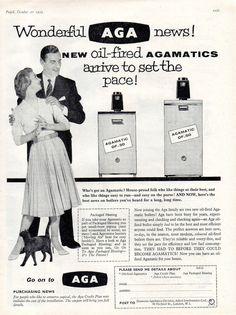 Vintage advert for AGA boilers c.1959