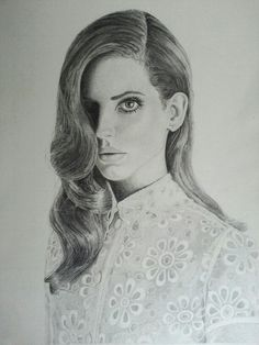Drawing made by my self ;) :D #LDR Lana Del Rey ♥♥