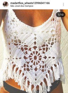 Fabulous Crochet a Little Black Crochet Dress Ideas. Georgeous Crochet a Little Black Crochet Dress Ideas. Pull Crochet, Mode Crochet, Crochet Crop Top, Knit Crochet, Crochet Fringe, Hand Crochet, Blouse Au Crochet, Black Crochet Dress, Crochet Cardigan
