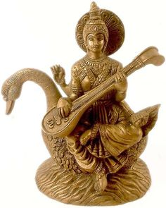 """Saraswati, daughter of Lord Shiva and Goddess Durga, the goddess of knowledge and arts…"""