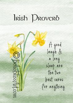 Irish Proverb: A good laugh and a long sleep are the two best cures for anything. Ireland Places To Visit, Irish Quotes, Irish Sayings, Ireland With Kids, Irish Proverbs, Irish Blessing, Irish Prayer, Ireland Travel, Scotland Travel
