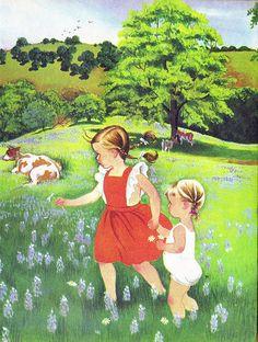 "Eloise Wilkin illustration from ""A Child's Garden of Verses"""