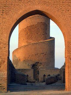 Grande Mesquita de Samarra, Iraque . Imagem © Flickr CC User James Gordon