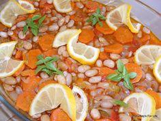 Barbunya Pilaki - Borlotti beans in olive oil. (Turkish)