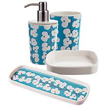 John Lewis Wallflower Bathroom Accessories