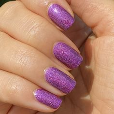 'Tis the season for fabulous nails! Get the party started with this shimmery violet-gold from #OPICelebration. 💜 Shade: #MyColorWheelIsSpinning #ColorIsTheAnswer #PurpleNails #PurpleMani #PartyNails #HolidayNails #FestiveNails #OPIObsessed #TrendyNails #NailGoals #NailsOnPoint #NailEnthusiast #NailTrends #NOTD #NailsOfInstagram #HolographicNails #HolographicMani