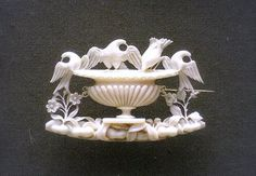 Carved ivory brooch, Italian, 1830