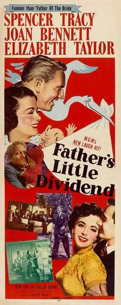 1951 western movie poster Belgian | Father's Little Dividend - 14 x 36 Movie Poster - Insert Style A