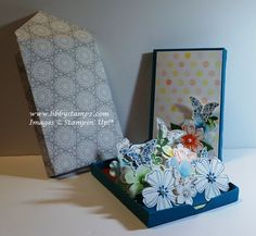 Pop-Up Matchbox Card In A Box (Video) - more images on my blog www.libbystampz.com