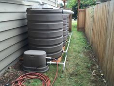 Matching pump cover and tank system #rainwaterharvesting