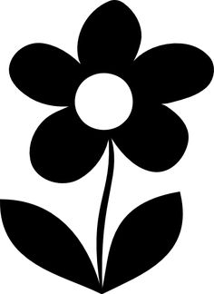 in flower silhouette clip art collection - ClipartFox Black And White Books, Black And White Baby, Black And White Pictures, Baby Flash Cards, Baby Cards, High Contrast Images, Silhouette Clip Art, Baby Room Art, Flower Graphic