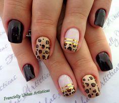 unhas - Pesquisa Google Stiletto Nails, Coffin Nails, Acrylic Nails, Manicure Y Pedicure, Mani Pedi, Hair And Nails, My Nails, Leopard Print Nails, Diy Nail Designs