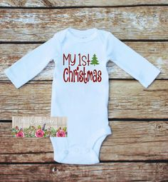 Baby's First Christmas Outfit Chirstmas Bodysuit First