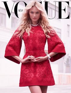 @Candice Swanepoel red hot in Dolce & Gabbana @stefanogabbana on Vogue Mexico September issue 2013