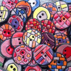 Boutons ceramique Raku