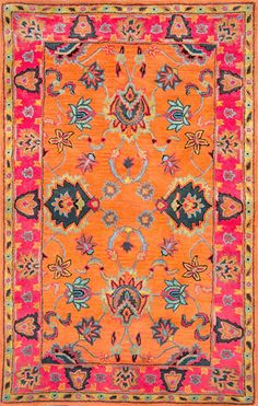 Amazon.com: nuLOOM Orange Hand Tufted Montesque Area Rug, 4' x 6': Kitchen & Dining