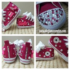Custom Barbie Crystal Converse Shoes by ElleBoutiqueNE on Etsy, $59.99