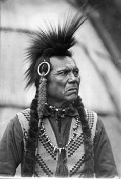 Cayuse man known as Whirlwind in front of tepee :: American Indians of the Pacific Northwest -- Image Portion