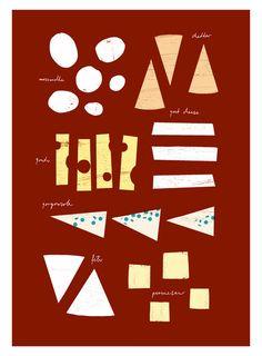 Anek - cheese illustration