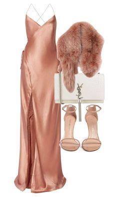 featuring Mason by Michelle Mason, Yves Saint Laurent, Marc Jacobs and Stuart Weitzman Mode Outfits, Dress Outfits, Fashion Outfits, Womens Fashion, Fashion Trends, Dresses Dresses, Dresses Online, Stuart Weitzman, Pretty Dresses