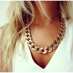 Chunky Gold Necklace <3