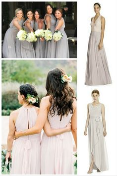 Find out why neutral shades make for an amazing choice for your bridesmaid dresses!  #bridalfashion #blush #taupe