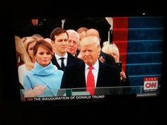Watching on @CNN the inauguration of the 45th president of the USA, Donald Trump.