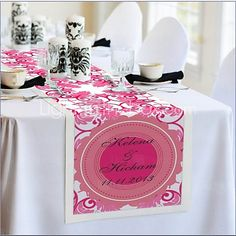 Table Centerpieces Personalized Reception Desk Table Runner - Peach  Table Deocrations  - USD $39.99