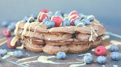 Sugar Free Chocolate Paleo Waffles