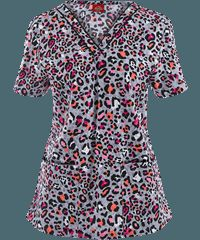 Dickies+EDS+Scrubs+Let+There+Be+Leopard+Print+Top