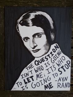 Ayn Rand (Original Drawing) by Ryan Sheffield