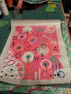 Gelli printing pull with contact paper