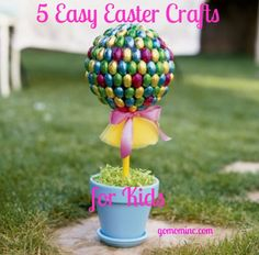 Just a few weeks to go ~ now is the perfect time to start crafting with your kids =) 5 Easy #Easter Crafts for Kids