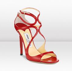 Jimmy Choo | Lance | Patent Leather Strappy Sandals | JIMMYCHOO.COM