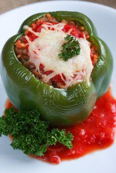 Classic Stuffed Bell Peppers   foodnfocus.com