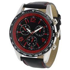 Geneva Men's Chronograph-style Genuine Leather Watch Geneva. $23.99