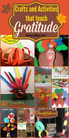 Crafts and Activities that teach gratitude.