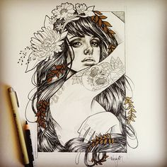 One of my favorite girls.. The lovely Radeo Suicide .. I've been drawing her since before I could draw.