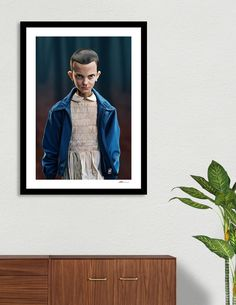 Discover «Eleven (close)», Numbered Edition Fine Art Print by rob art | illustration - art | decor | wall art | inspiration | caricatures | home decor | idea | humor | gifts
