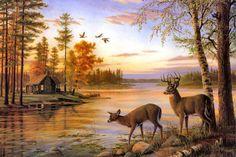 In Hd Deer Background Wallpapers Deer Desktop Wallpapers In Hd . Hirsch Wallpaper, Deer Wallpaper, Photo Wallpaper, Wildlife Paintings, Wildlife Art, Landscape Paintings, Deer Paintings, Deer Drawing, Nature Drawing